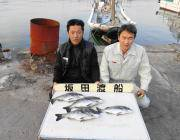 黒島の筏 良型チヌの釣果
