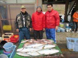 田井の海上釣り堀 メジロ・シマアジ・マダイの釣果