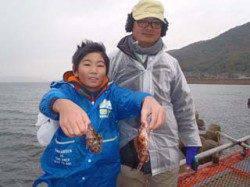 神戸市立須磨海づり公園 お子様のガシラ釣果