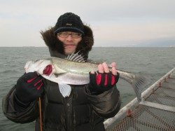 ウキ釣りで48~52cmのハネと 43cmのチヌ、尼崎市立魚つり公園