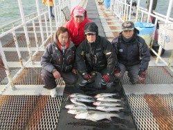 尼崎市魚つり公園 ウキ釣りでスズキ・セイゴの釣果あり