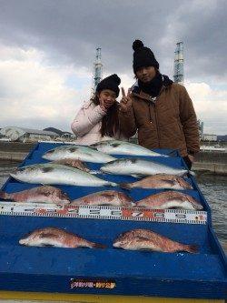 マリーナシティ海洋釣り堀 マダイ&メジロの釣果