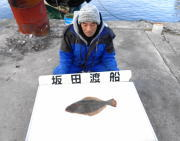 黒島の筏 のませ釣りでヒラメ45cm