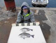黒島の筏でのチヌ釣り 他カンダイも釣れました!