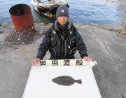 黒島の筏 のませでヒラメ、チヌは40UP3枚