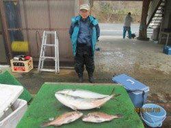 【18日】田井の釣り堀でメジロ&マダイ