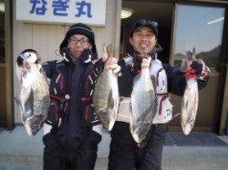 湯浅の磯・カルモ島で良型チヌの釣果