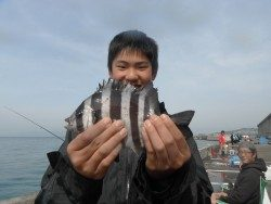 和歌山北港魚つり公園 サンバソウ21cmの釣果