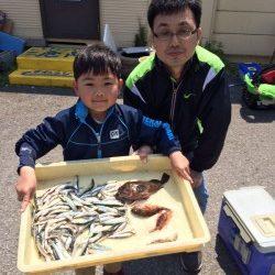 マリーナシティ海釣り公園 小イワシの数釣りできます
