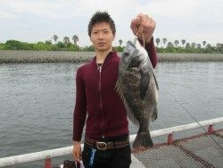 尼崎市立魚つり公園 エビ撒き釣りのチヌが好調です