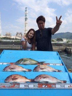 和歌山マリーナシティ海洋釣り堀 シマアジ頂きま~す♪