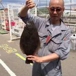 マリーナシティ海洋釣り堀 ヒラメ&マダイの釣果