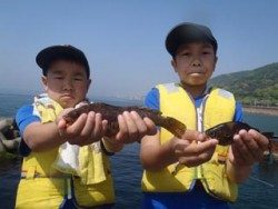 神戸市立須磨海づり公園 キッズのアイナメ・メバル釣果です