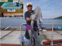 須磨海釣り公園 エギングでアオリイカ3,155g!