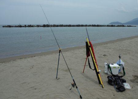 由良浜でライトタックルでチョイ投げ
