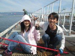 様紀州釣りで45cmのチヌ 尼崎市立魚つり公園
