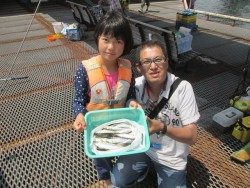 尼崎市魚つり公園 サビキでサバ&イワシ&