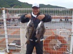 和歌山北港魚つり公園 チヌ良型