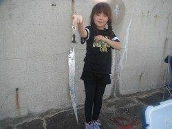 和歌山北港魚つり公園 タチウオ80㎝