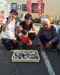 和歌山マリーナシティ海釣り公園 サビキでアジ250匹!