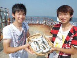 大阪南港海釣り公園 サバ、アジ、サッパ好調です