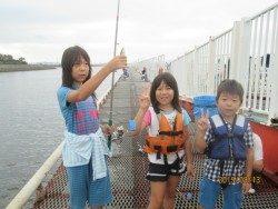 尼崎市魚つり公園 サビキでアジ・サッパ・サバ好調