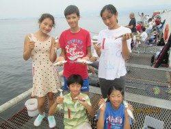 尼崎市魚つり公園 今日もサビキで大漁釣果