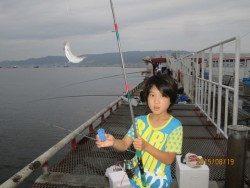尼崎市立魚つり公園 サビキでチヌも