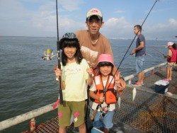 尼崎市立魚つり公園 サッパとイワシが好釣果