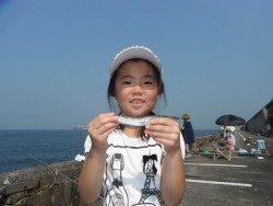和歌山北港魚つり公園 カマスが釣れたよ♪