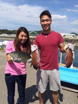 和歌山マリーナシティ海洋釣り堀 マダイ、シマアジ