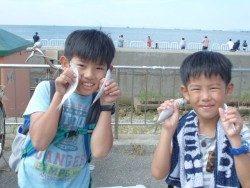 大阪南港海釣り公園 サバ好調