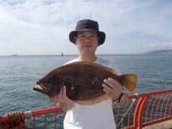 平磯海釣り公園 メタルジグでヒラメ53cm