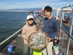 尼崎市魚つり公園 ファミリーでサビキ楽しめます