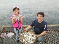 尼崎市立魚つり公園、サビキ好釣!