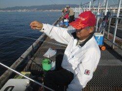 尼崎市立魚つり公園 今日もスズキが上がっています!