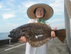 ナイスヒラメ★和歌山北港魚つり公園