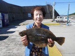 和歌山北港魚つり公園 ヒラメ  49㎝