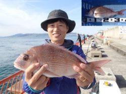 平磯海釣り公園 ウキ釣りでマダイ39cm