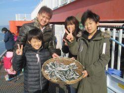 尼崎市魚つり公園 園内セイゴ560 匹の釣果
