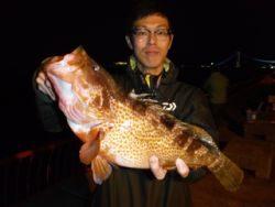 平磯海釣り公園 ウキ釣りでアコウ44.5cm