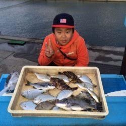 「アコウ釣ったどー!」マリーナシティ海釣り公園