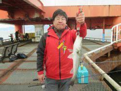 尼崎市立魚つり公園 ハネはタナ少し深めが◎