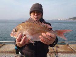 須磨海釣り公園 フカセでマダイ41cm