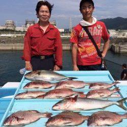 和歌山マリーナシティ海洋釣り堀 カンパチ・マダイの釣果