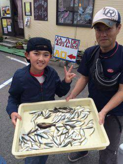 和歌山マリーナシティ海釣り公園 アジ105匹