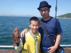 須磨海釣り公園 胴突きのシラサでガシラ13尾