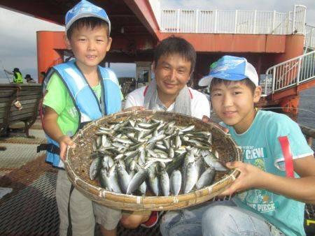 尼崎市立魚つり公園 豆アジ5200匹