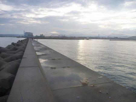 台風前釣行