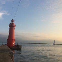 ポーアイ赤灯台でマアジとガシラ